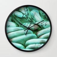 pills Wall Clocks featuring Pills by knol