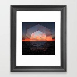 A Sunny Setting Framed Art Print