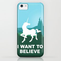 I WANT TO BELIEVE - Unicorn iPhone 5c Slim Case