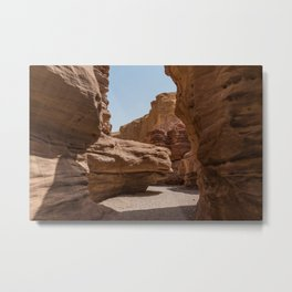 red canyon is israel negev desert Metal Print