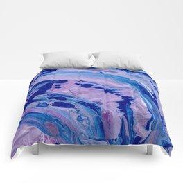 Purple Dolphins Comforters