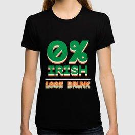 0% Irish 100% Drunk - Funny Tee T-shirt