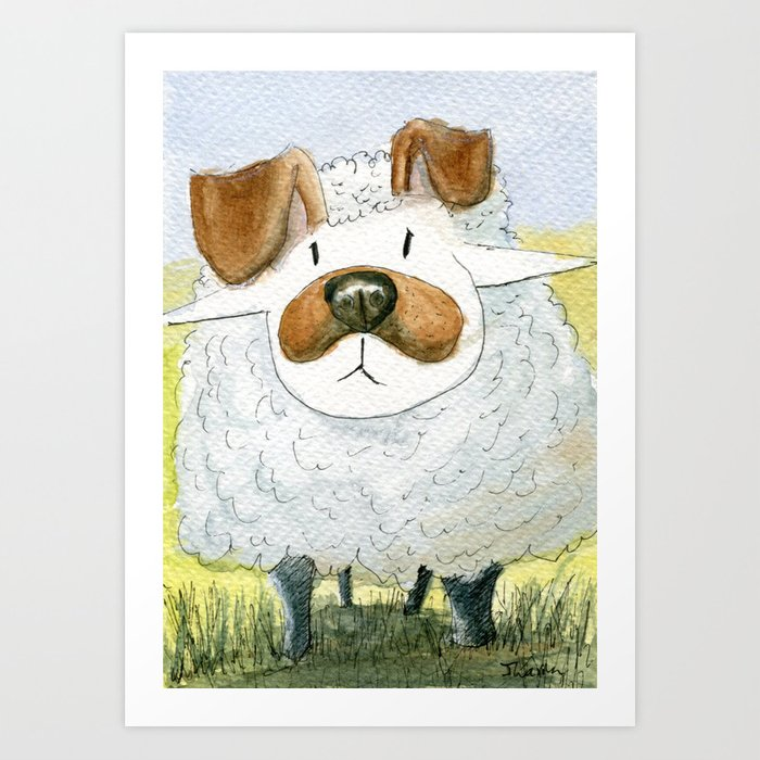 Snapchat Sheep Art Print