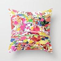 kate bishop Throw Pillows featuring Kate by Caroline Sansone