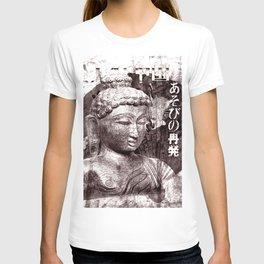 Buddha mit Fächer T-shirt