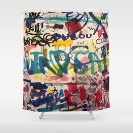 Urban Graffiti Paper Street Art Shower Curtain