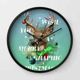 Merry Graphic christmas Wall Clock
