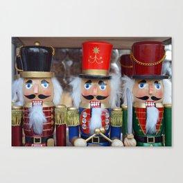 Three colorful nutcrackers Canvas Print