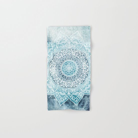 DEEP BLUE MANDALA Hand & Bath Towel