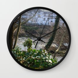 Fast Current On Early Spring Wall Clock