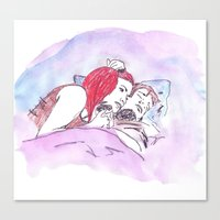 eternal sunshine of the spotless mind Canvas Prints featuring Eternal Sunshine of the Spotless Mind by nicoleskine