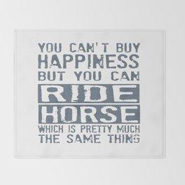 RIDE HORSE Throw Blanket
