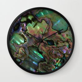 Oil Slick Abalone Mother Of Pearl Wall Clock