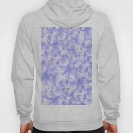 Elegant lavender white faux gold watercolor hydrangea flowers Hoody