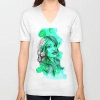 ellie goulding V-neck T-shirts featuring Ellie by bexchalloner