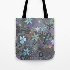 Colorful grey xmas pattern Tote Bag