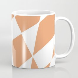 Twisted Checkers - Orange/White Coffee Mug