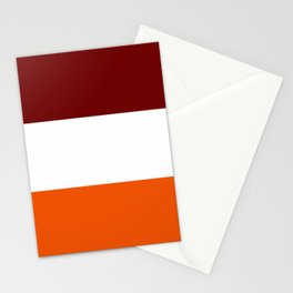 TEAM COLORS 8...Maroon , orange white Stationery Cards