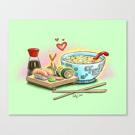 Sushi and Miso Canvas Print
