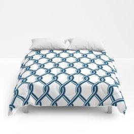 True Blue Chain Link Comforters