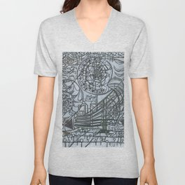 The Wall and the Writers Unisex V-Neck