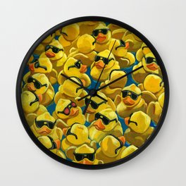 One of a Kind - Rose Colored Glasses - Rubber Ducks Wall Clock