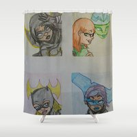 dc Shower Curtains featuring DC: Batgirls by aka-noodle