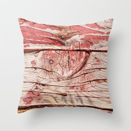Abstract Art Of Old Wood Throw Pillow