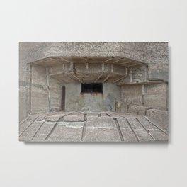 Jersey War Bunker Metal Print