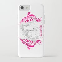 grease iPhone & iPod Cases featuring Grease (Sketch & bird design) by Rene Alberto