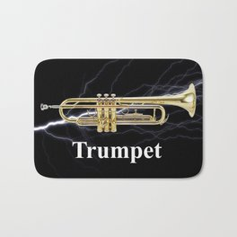 Shockingly Brilliant Trumpet  Bath Mat