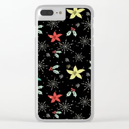 Cute Christmas Pattern Clear iPhone Case