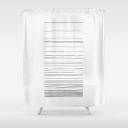 Linear Gradation - Ash Shower Curtain