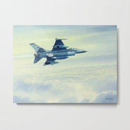 F-16 Fighting Falcon Aircraft Metal Print