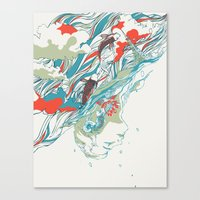 huebucket Canvas Prints featuring Colours In The Sky by Huebucket