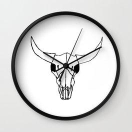 Minimalist Steer Wall Clock