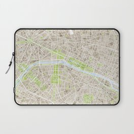 Paris SGB Watercolor Map Laptop Sleeve