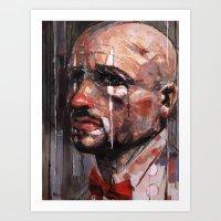 clown Art Prints featuring 'Clown' by Arthur R Piwko (picpoc)