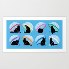 raining cats 'n cats Art Print