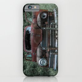 Rust Covered Classic Car Abandoned in Forest iPhone Case