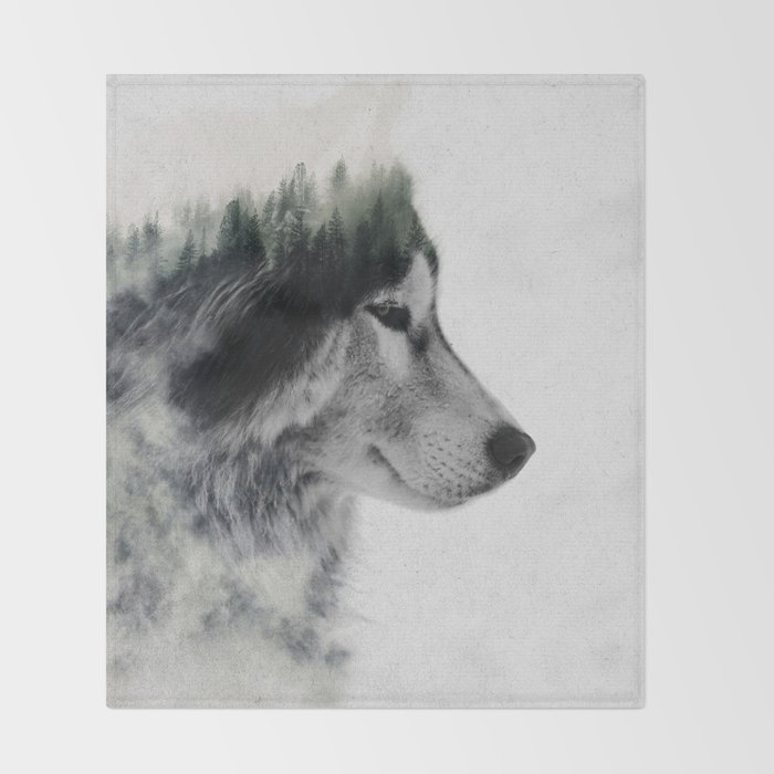 Wolf Stare Throw Blanket