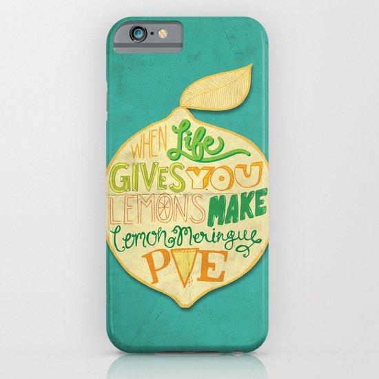 Lemon Meringue Pie iPhone & iPod Case