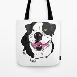 Bubba, the American Bulldog Tote Bag