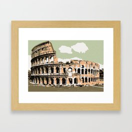 Il Colosseo Roma (The colosseum or coliseum Rome) Framed Art Print