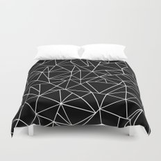 Abstraction Outline Black and White Duvet Cover