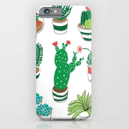 Illustrated Cactii iPhone Case