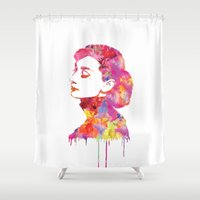 audrey Shower Curtains featuring Audrey by Fimbis