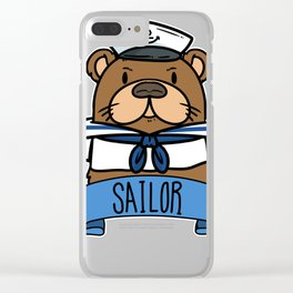 sailor gift sailing ship sailor Ahoi Seefahrt Clear iPhone Case