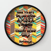 vonnegut Wall Clocks featuring Vonnegut by nicole martinez