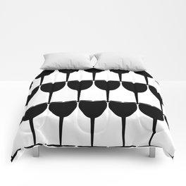 Vino - Black on White Comforters